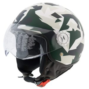 casco scooter verde